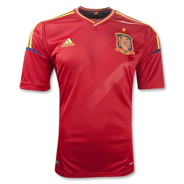 spain home shirt euro 2012 Euro 2012 Shirts: Official Home and Away Jerseys For All 16 Teams