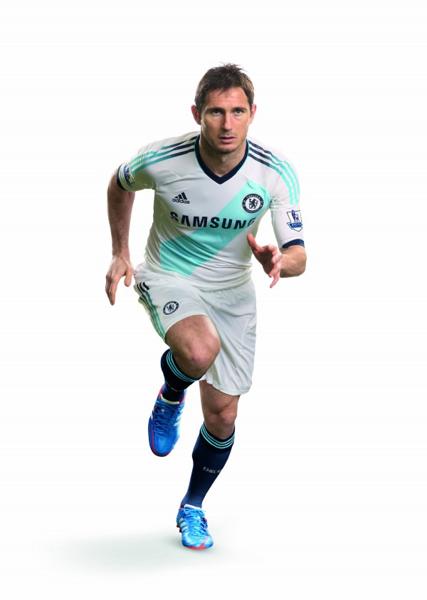 Chelsea FC 2012 12 Away Kit Frank Lampard 600x842 Chelsea Away Shirt for 2012 13 Season: The Blues Go French [VIDEO]