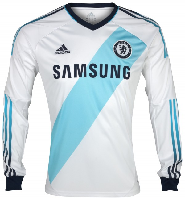 Chelsea FC 2012 13 Away Kit Long Sleeve 600x648 Chelsea Away Shirt for 2012 13 Season: The Blues Go French [VIDEO]