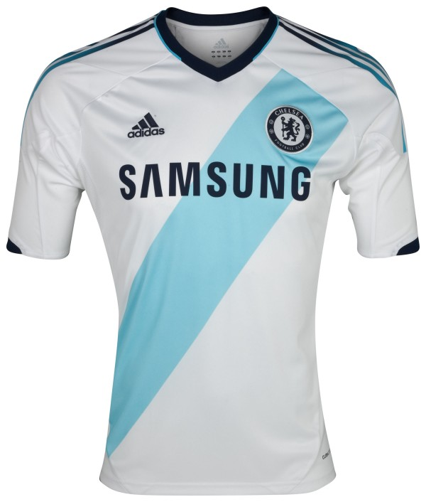 Chelsea FC 2012 13 Away Kit Short Sleeve 600x706 Chelsea Away Shirt for 2012 13 Season: The Blues Go French [VIDEO]