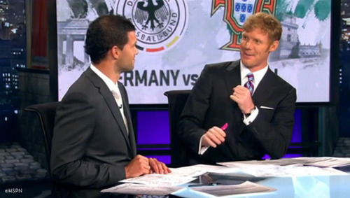 ballack lalas espn Alexi Lalas vs Michael Ballack: The Euro 2012 Cage Match On ESPN Continues