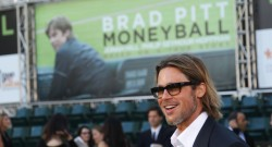 "Actor Pitt arrives for the world premiere of the film ""Moneyball"" in Oakland"