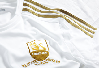 swansea home shirt centenary crest Swansea City Home Shirt for 2012 13 Season From Adidas [PHOTO]