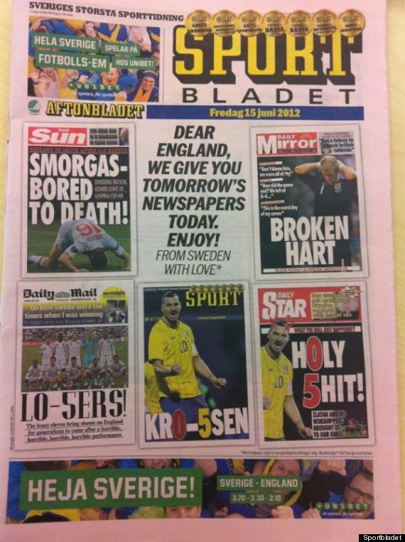 sweden hubris Swedish Newspapers Hubris in Predicting Big Swedish Win Over England