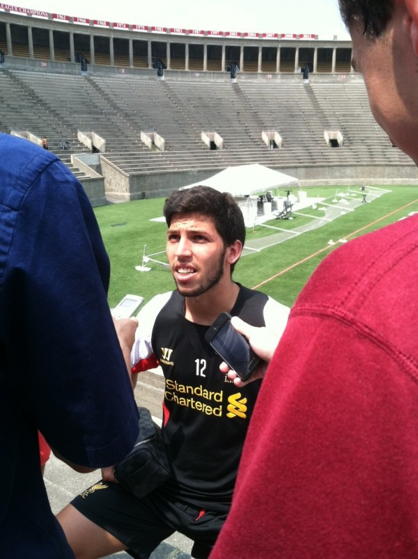 Dani Pacheco e1342882681439 600x803 Liverpool Footballers Meet The Media At Harvard University [PHOTO]