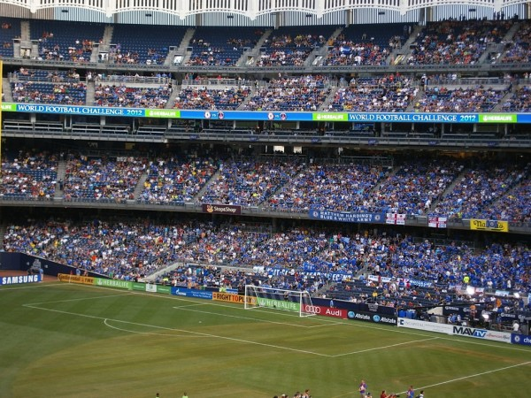 almost sold out 600x450 Chelsea vs Paris Saint Germain From Yankee Stadium, In Pictures [PHOTO]