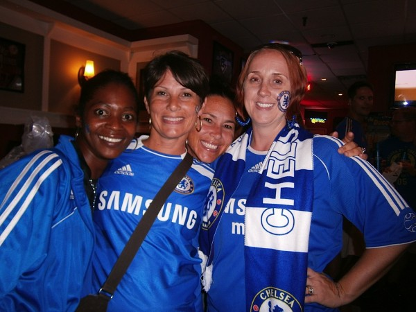 chelsea girls 600x450 Chelsea vs Paris Saint Germain From Yankee Stadium, In Pictures [PHOTO]