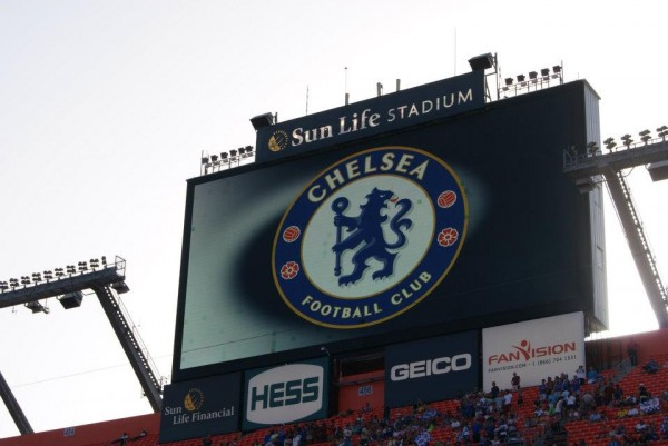 chelsea jumbotron 600x401 Chelsea vs AC Milan Friendly In Miami, In Pictures [PHOTO]