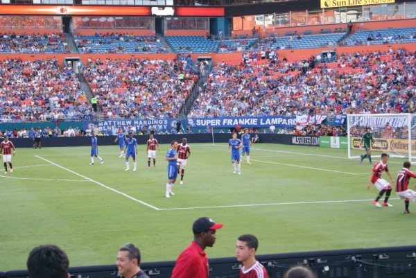 chelsea milan action 600x401 Chelsea vs AC Milan Friendly In Miami, In Pictures [PHOTO]