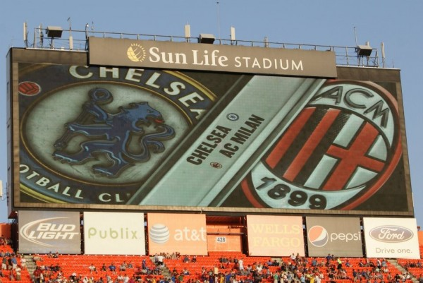 chelsea milan closeup jumbotron 600x401 Chelsea vs AC Milan Friendly In Miami, In Pictures [PHOTO]