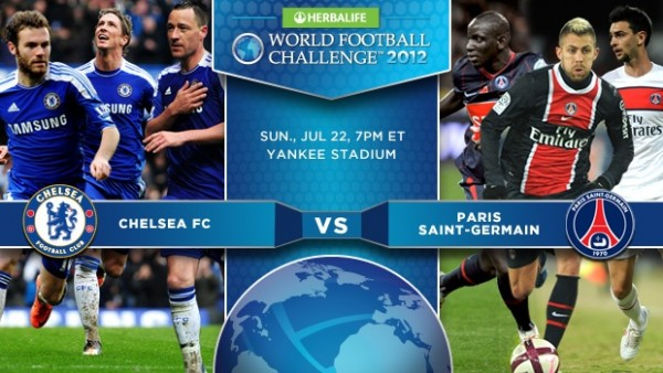 chelsea psg 600x338 Win 2 Tickets to Sundays Chelsea vs Paris Saint Germain Friendly at Yankee Stadium