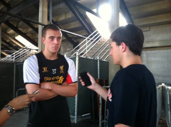 danny wilson one 600x448 Liverpool Footballers Meet The Media At Harvard University [PHOTO]