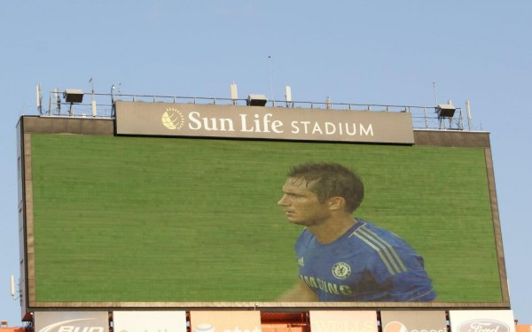frank lampard closeup 600x375 Chelsea vs AC Milan Friendly In Miami, In Pictures [PHOTO]