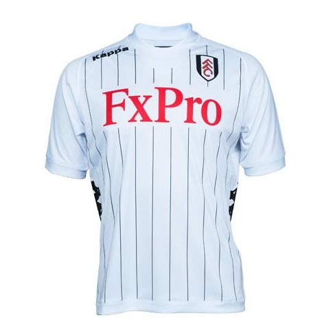 fulham home shirt front tiff Fulham Home Shirt for 2012 13 Season: Stripes?! [PHOTO]