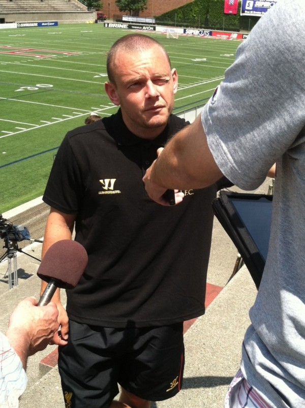 jay spearing e1342882620246 600x803 Liverpool Footballers Meet The Media At Harvard University [PHOTO]