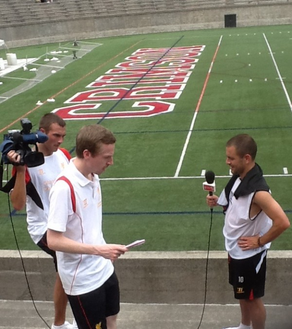 joe cole one 600x677 Liverpool Footballers Meet The Media At Harvard University [PHOTO]