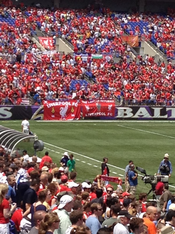 lfc fans 600x800 Liverpool vs Tottenham Hotspur Friendly In Baltimore, In Pictures [PHOTO]