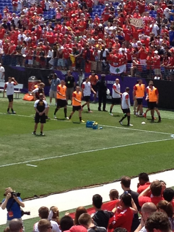 lfc warming up 600x800 Liverpool vs Tottenham Hotspur Friendly In Baltimore, In Pictures [PHOTO]