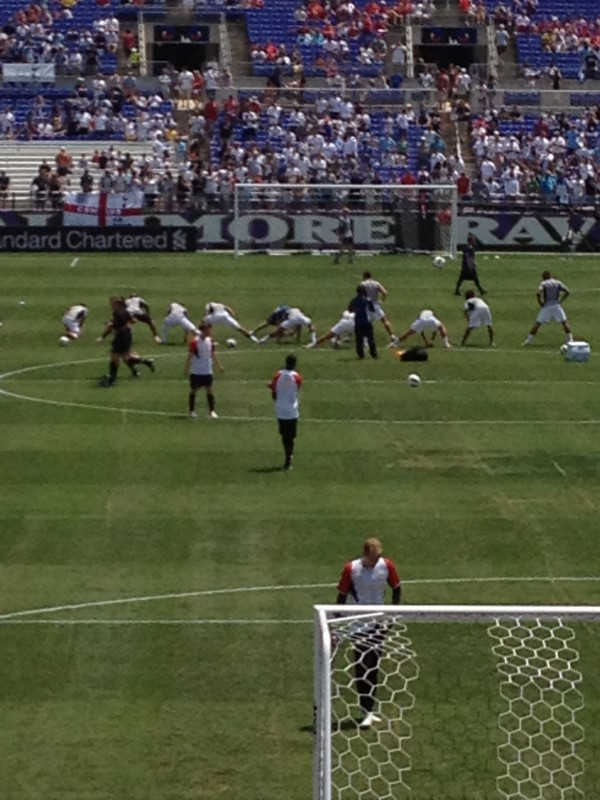 lfc warming up two 600x800 Liverpool vs Tottenham Hotspur Friendly In Baltimore, In Pictures [PHOTO]