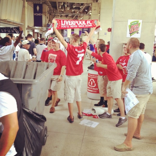 more lfc fans concourse 600x600 Liverpool vs Tottenham Hotspur Friendly In Baltimore, In Pictures [PHOTO]
