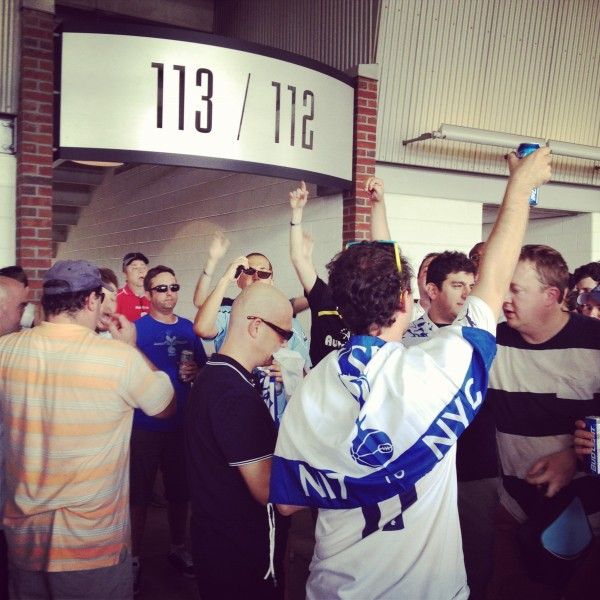 more spurs fans concourse 600x600 Liverpool vs Tottenham Hotspur Friendly In Baltimore, In Pictures [PHOTO]