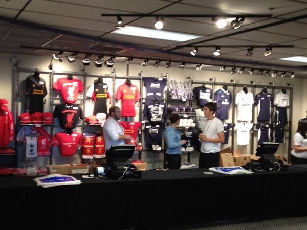 souvenir stand 600x450 Liverpool vs Tottenham Hotspur Friendly In Baltimore, In Pictures [PHOTO]