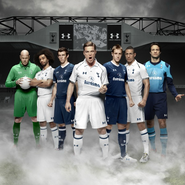 tottenham players new kits Tottenham Hotspur Home and Away Shirts for 2012 13 Season: Official Images [PHOTO]