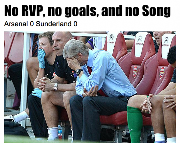 arsenal sunderland 600x478 Arsenal Supporters Need to be Patient
