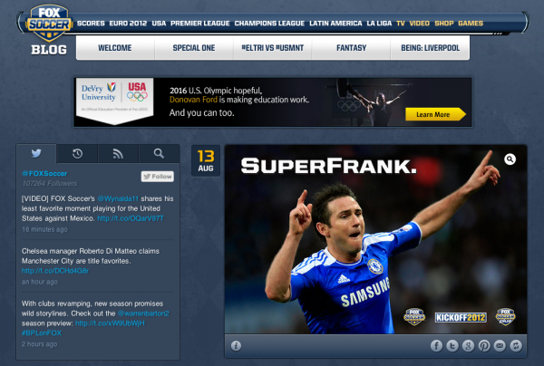 fox soccer blog 600x404 FOX Soccer Launches Tumblr Blog