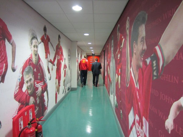 anfield corridor 600x450 Being Liverpool Review: TV Documentary Promises A Lot, Delivers Little