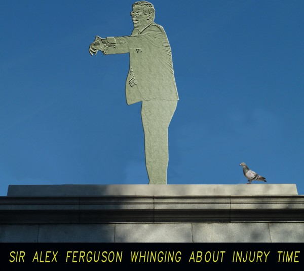 2 Sir Alex Ferguson Statue 600x534 6 Statues Celebrate Most Infamous Moments in English Football [PHOTOS]