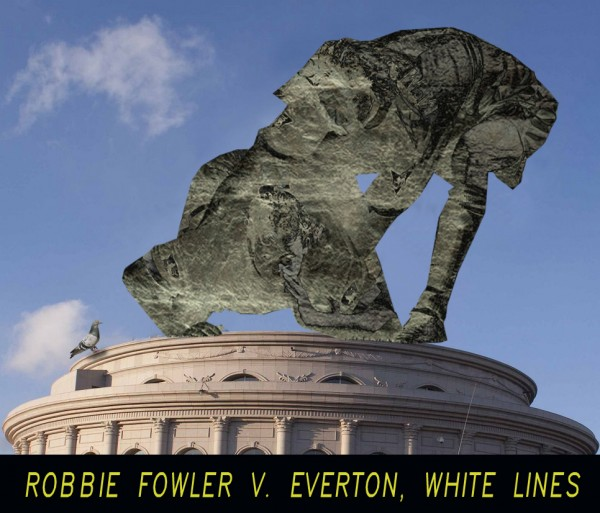 3 Robbie Fowler Statue 600x513 6 Statues Celebrate Most Infamous Moments in English Football [PHOTOS]