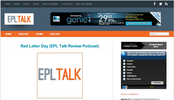 epl talk redesign English Premiership Party