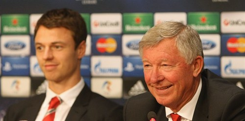 jonny evans alex ferguson Man United's Defensive Problems Are Cause For Concern