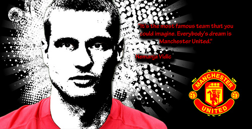 nemanja vidic 3 Manchester United Footballers Who Are Dragging David Moyes Down