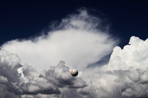 soccer ball in clouds 600x398 Did Soccer Grow in the US this Summer?