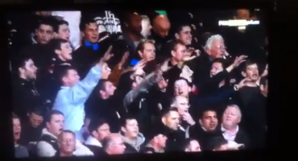 west ham hitler salutes 600x326 West Ham Fans Filmed Making Nazi Salutes Towards Tottenham: The Daily EPL