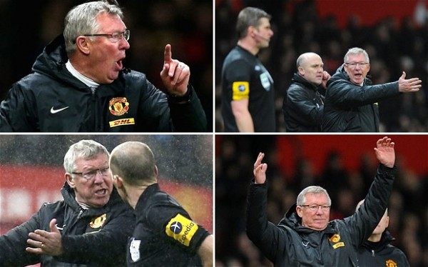 ferguson referee abuse 600x374 Sir Alex Ferguson is a Great Manager, But Sets Bad Example With Ugly Tirades: The Daily EPL