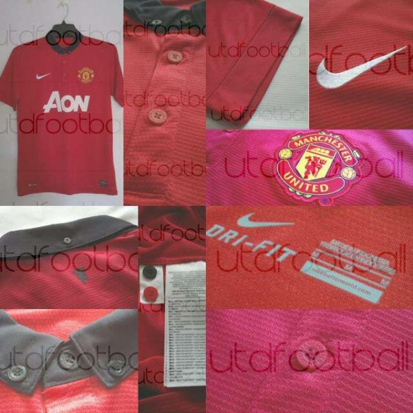 manchester united new home shirt 600x600 Is This Manchester Uniteds New Home Shirt for the 2013 14 Season? [PHOTO]