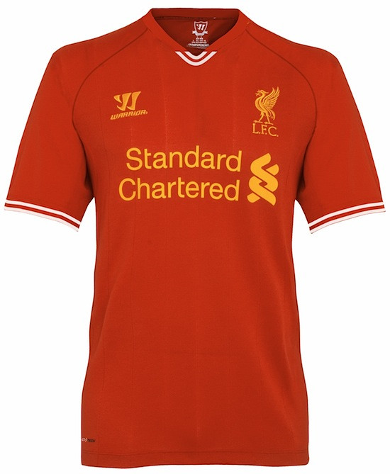 new liverpool kit Is This Liverpools New Home Shirt for the 2013 14 Season? [PHOTO]