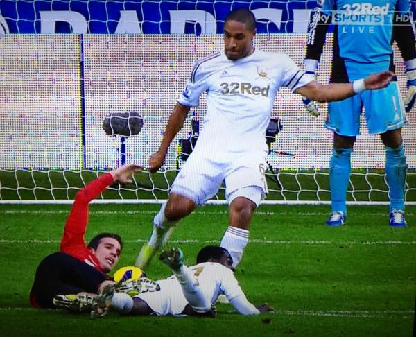 swansea williams persie FA to Take No Action Against Ashley Williams For Clearance That Hit Van Persies Head: The Daily EPL