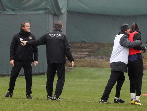 balotelli mancini broken up Roberto Mancini Could Face Manchester City Sack If They Lose to Leeds United: The Daily EPL