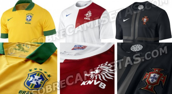 brazil holland portugal 600x328 Brazil, Netherlands and Portugal Shirts Leaked [PHOTOS]