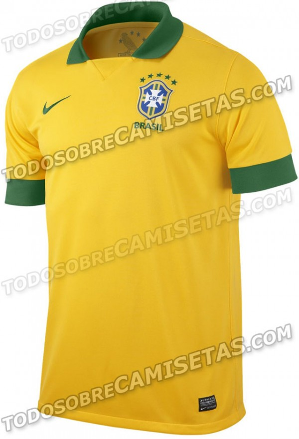 brazil shirt 600x881 Brazil, Netherlands and Portugal Shirts Leaked [PHOTOS]