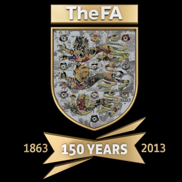 fa 150 year anniversary logo 600x600 FA Logo to Celebrate 150 Years of English Football Association [PHOTO]