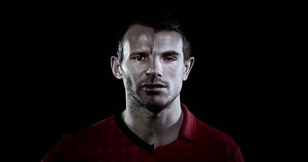 giggs henderson 600x317 Double Vision: Manchester United and Liverpool Footballers Star in Chevrolet Commercial [VIDEO]