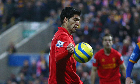 suarez handball mansfield Liverpools Brendan Rodgers Stands by Luis Suárez After Mansfield Goal: The Nightly EPL