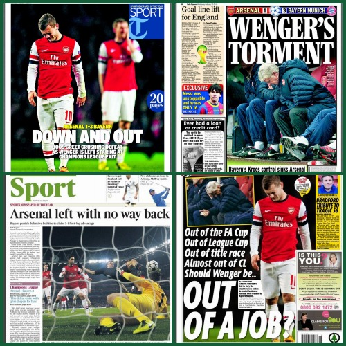 arsenal headlines Arsène Wenger Concedes Trophy Hopes After Bayern Munich Defeat: The Nightly EPL