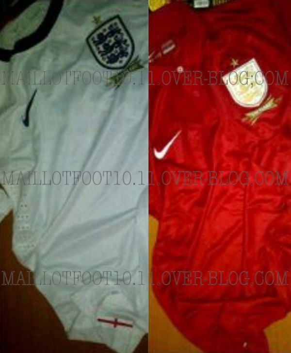 england home and away shirts 600x727 England Home and Away Shirts From Nike: Leaked [PHOTOS]