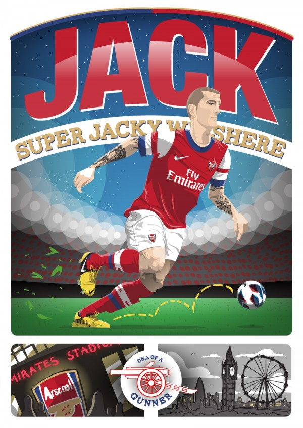 jack wilshere arsenal illustration 600x848 Illustration Of Arsenals Super Jack Wilshere [PHOTO]